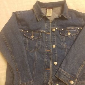 Denim and co studded detail jean jacket